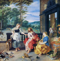 Peter Paul Rubens with Jan Brueghel the Younger - Christ in the House of Martha and Mary
