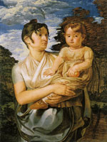 Philipp Otto Runge Wife and Son of the Artist