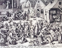 Philips Galle after Pieter Bruegel - Charity