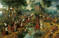 Pieter Aertsen Return from the Procession