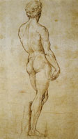 Raphael A Back View of Michelangelo's 'David'