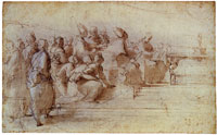 Raphael Study for the Lower Left Section of the 'Disputa'