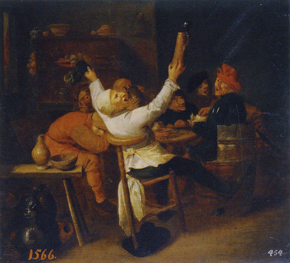 Copy after Adriaen Brouwer - The Singing Tapster