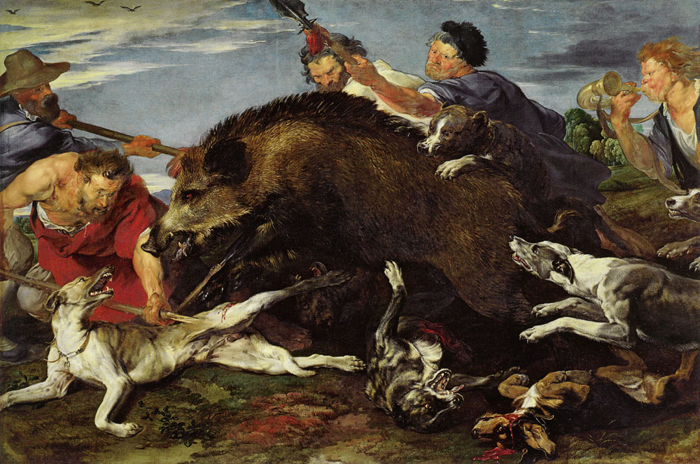 Anthony van Dyck and Frans Snyders - Boar Hunt