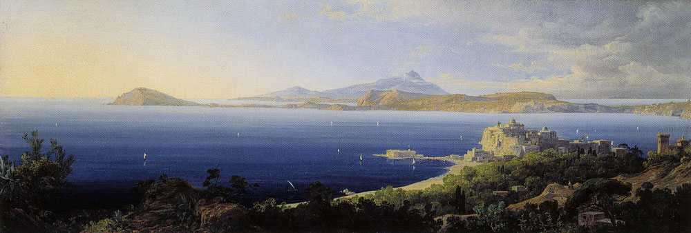 August Wilhelm Julius Ahlborn - Pozzuoli Bay near Naples