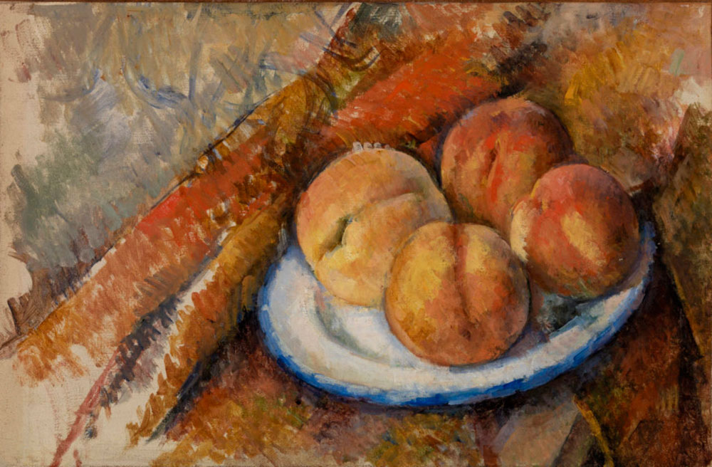 Paul Cézanne - Four Peaches on a Plate