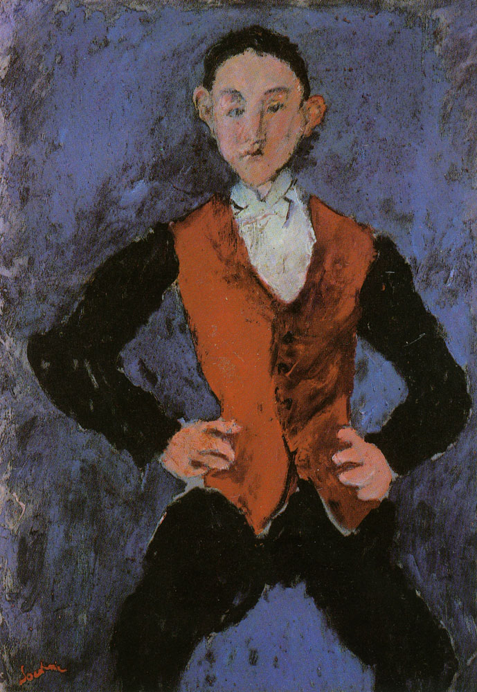 Chaim Soutine - Portrait of a Boy