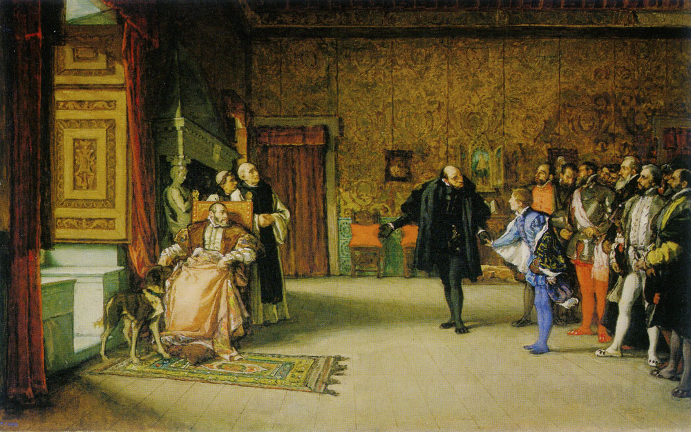 Eduardo Rosales Gallina - The Presentation of Don Juan of Austria to Charles V