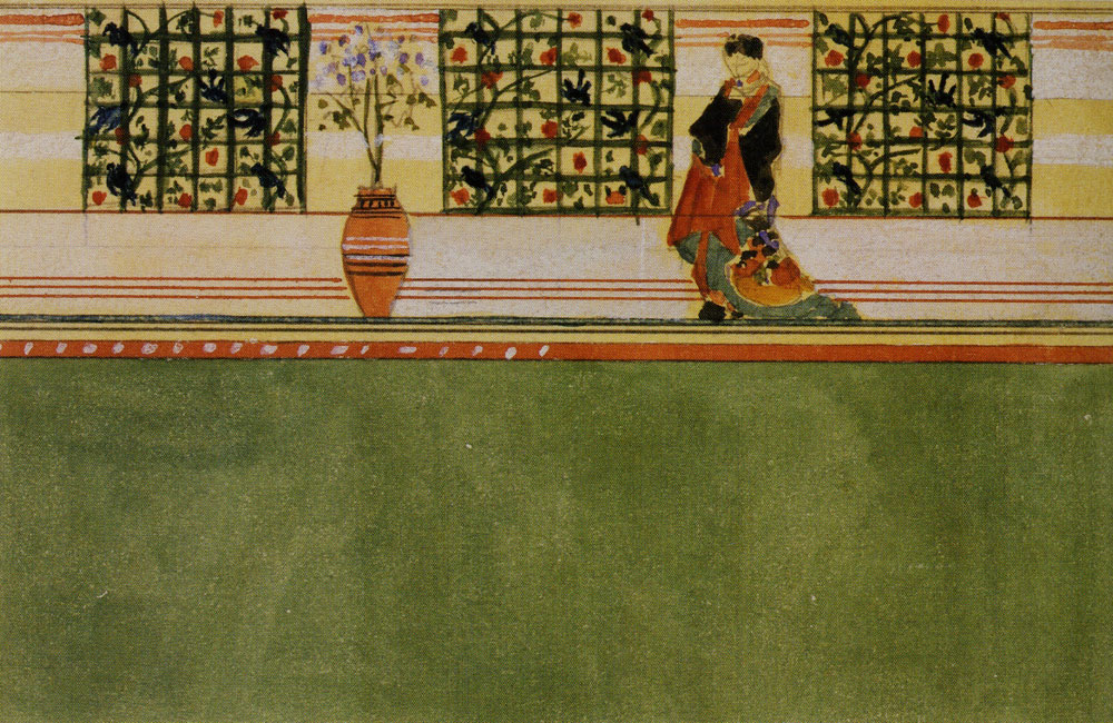 Edward William Godwin - Design for a Japanese-inspired wall decoration at Dromore Castle