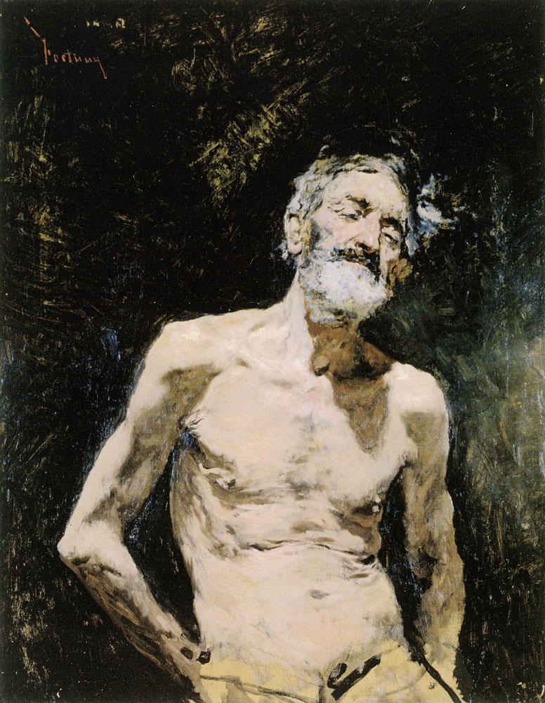 Mariano Jose-Maria-Bernardo Fortuny y Marsal - Old Man Naked in the Sun
