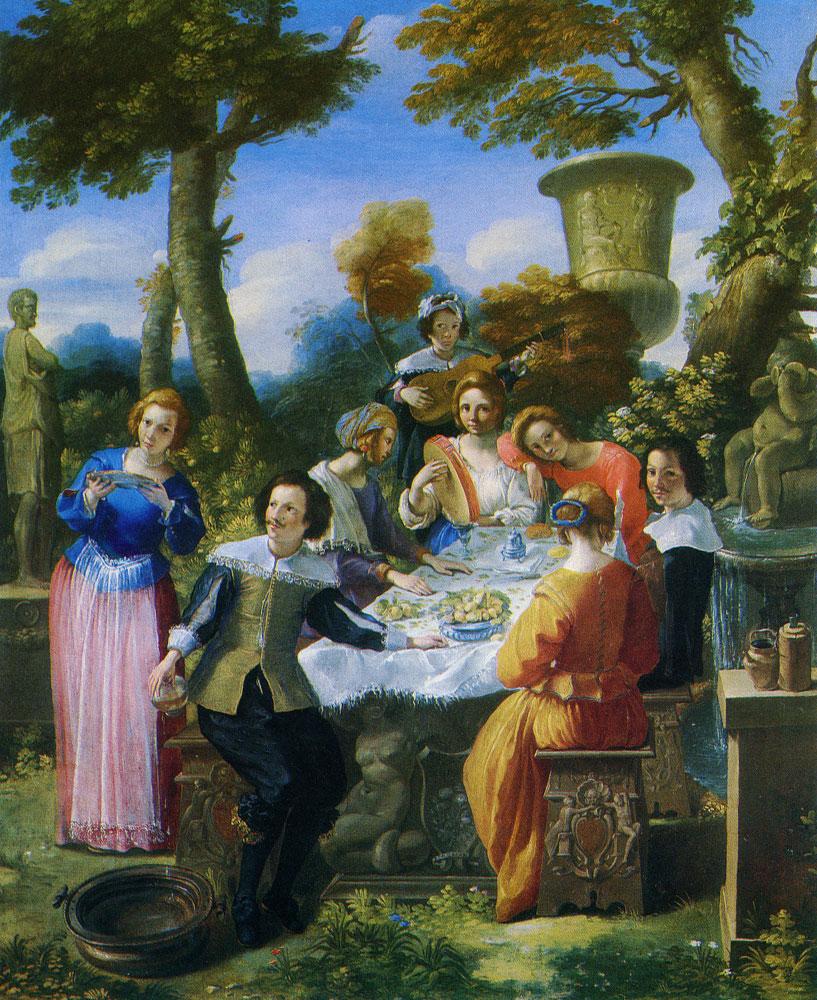 Giovanni Battista Passeri Party Feasting In A Garden