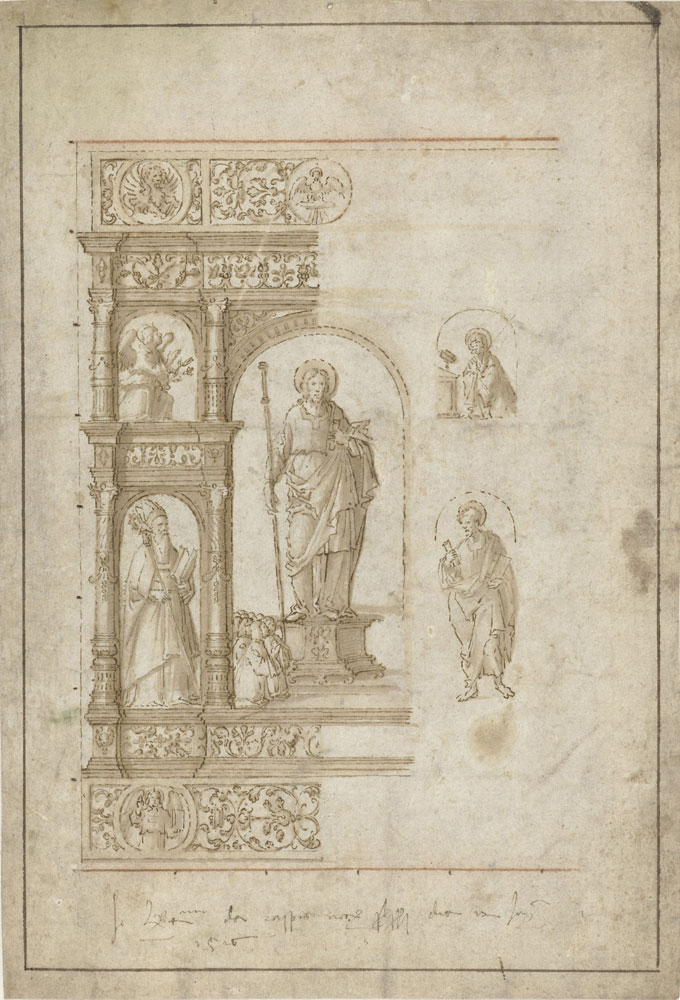 Girolamo da Santa Croce - Design for an Altarpiece