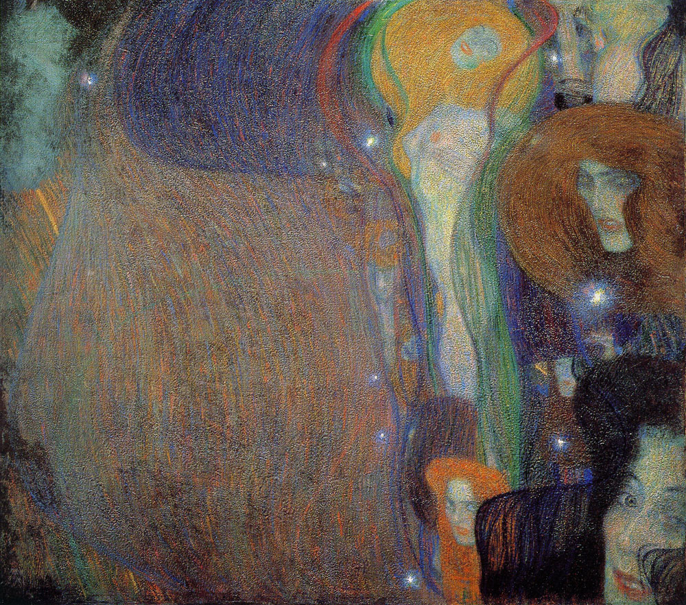 Gustav Klimt - Irrlichter (Will-o'-the-Wisps)