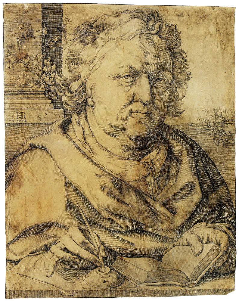 Hendrick Goltzius - Portrait of Jan Govertsz. van der Aar as St. Luke