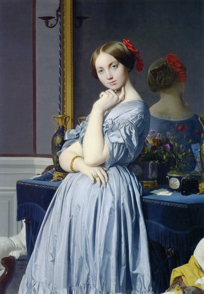 Jean Auguste Dominique Ingres - Portrait of the Vicomtesse Othenin d'Haussonville, née Louise-Albertine de Broglie