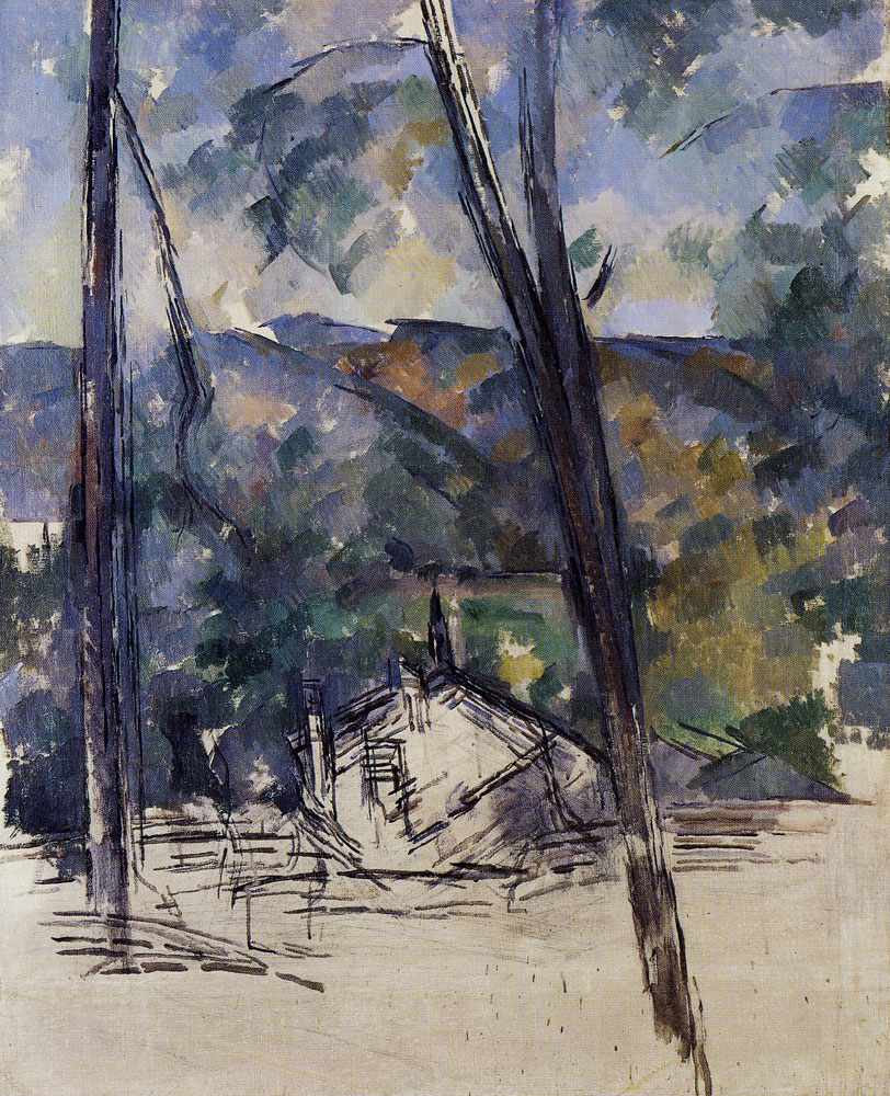 Paul Cézanne - View of the Road to Tholonet near the château noir