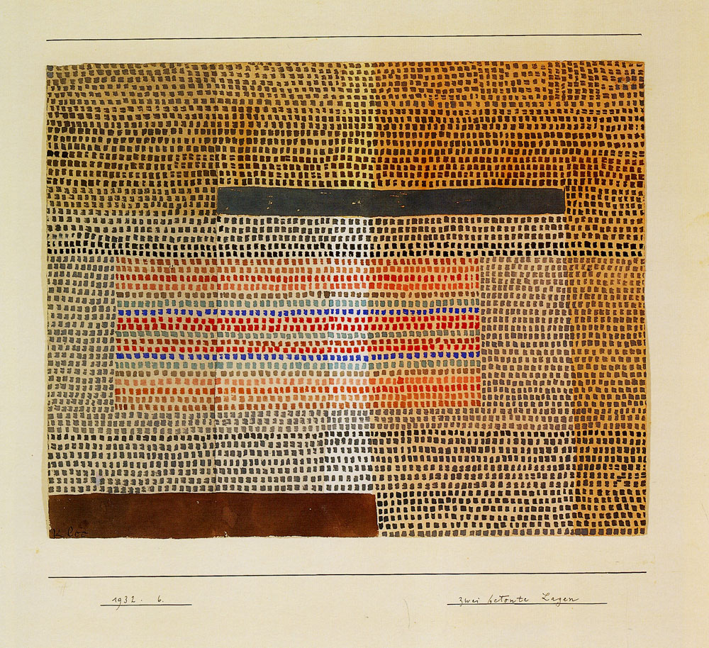Paul Klee - Two Accented Layers