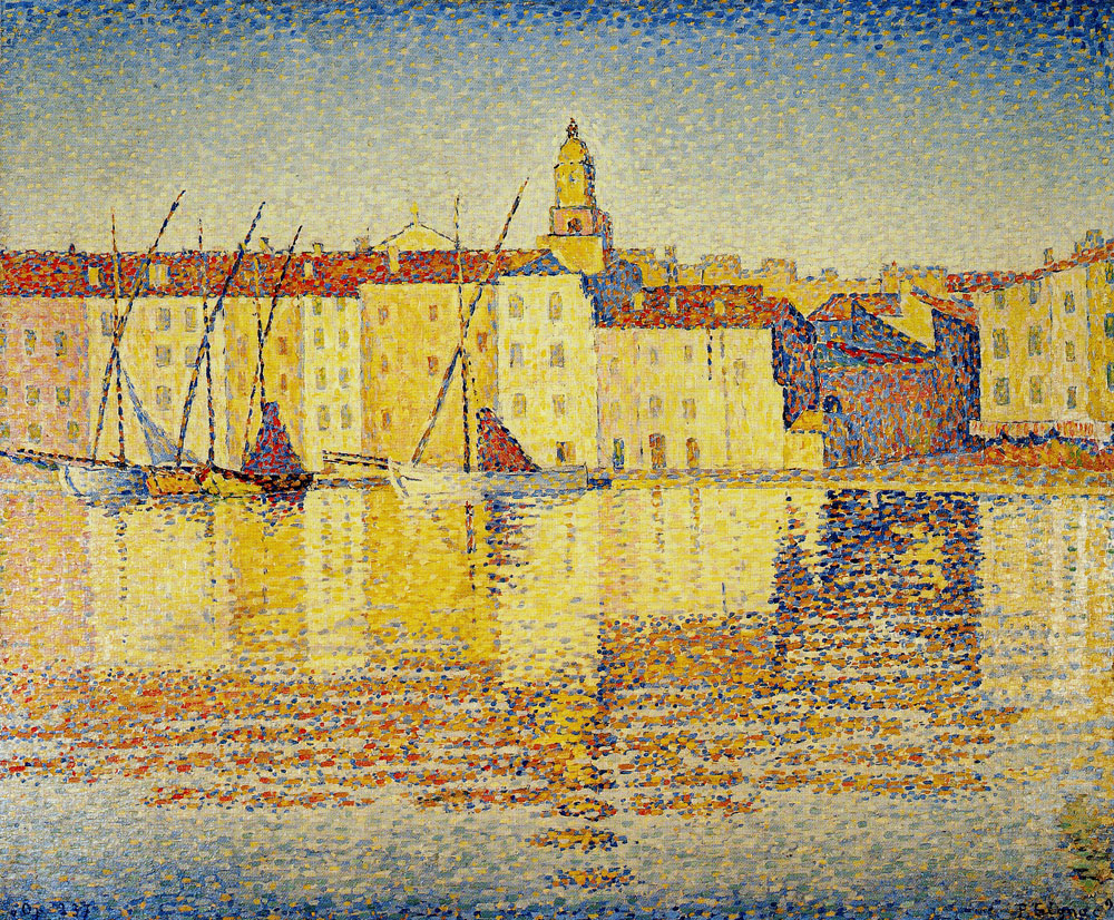 Paul Signac - Houses in the Port, Saint-Tropez, Opus 237