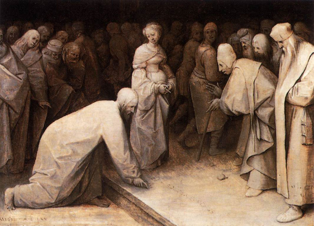 Pieter Bruegel the Elder - Christ and the woman caught in adultery