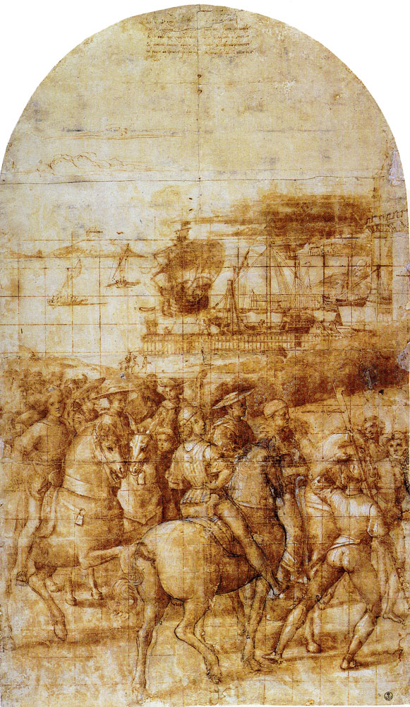 Raphael - Modello for the Journey of Enea Silvio Piccolomini to Basle