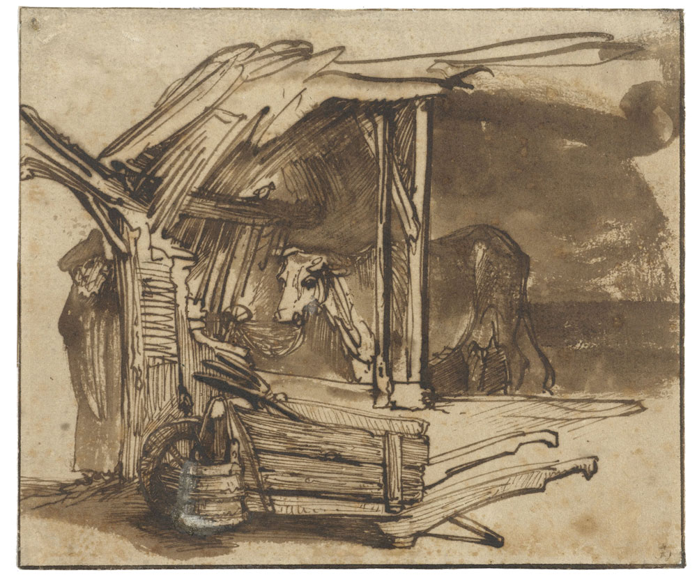 Rembrandt - Cow Standing in a Shed