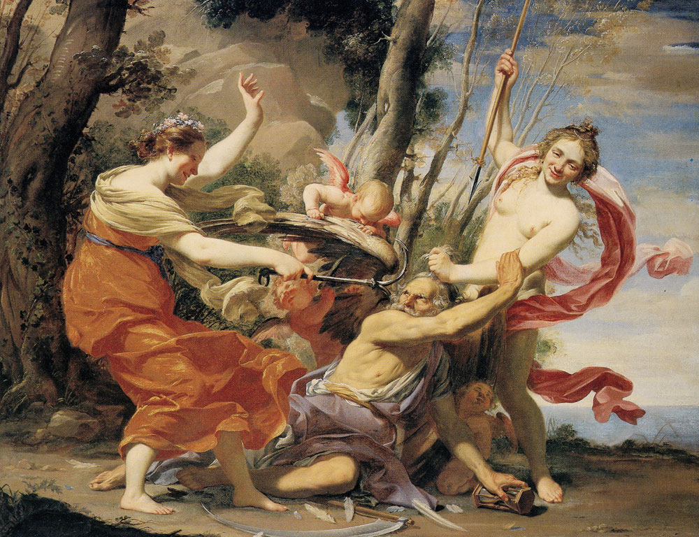 Simon Vouet - Time Defeated by Hope, Love, and Beauty