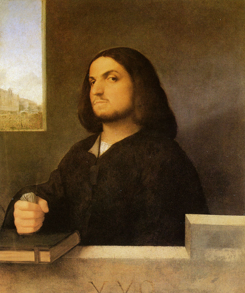 Giorgione and Titian - Portrait of a Venetian Gentleman