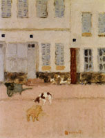 Pierre Bonnard - Two Dogs in a Deserted Street