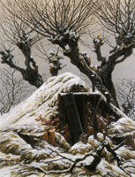Caspar David Friedrich Snow-Covered Hut