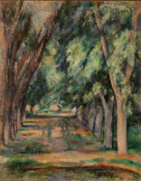 Paul Cézanne The Allée of Chestnut Trees at the Jas de Bouffan