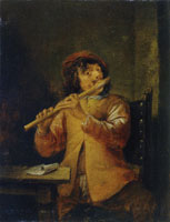 David Teniers the Younger The Flute Player