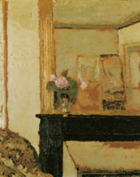 Edouard Vuillard Vase of Flowers on a Mantelpiece