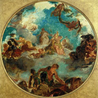 Eugène Delacroix Peace Come to Console Men and Restore Abundance