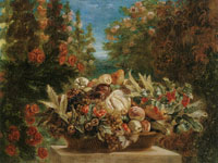 Eugène Delacroix Still Life with Flowers and Fruit