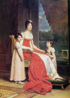 François Gérard Julie Bonaparte, Queen of Naples, with her Daughters Zénaïde and Charlotte