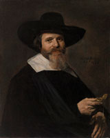 Frans Hals Portrait of a Man Holding a Watch