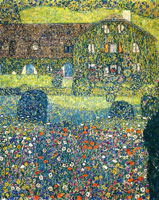 Gustav Klimt Country House on the Attersee