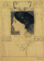 Gustav Klimt Preparatory Drawing for Junius