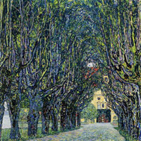 Gustav Klimt - Alley in the Park of Schloss Kammer
