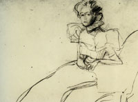 Gustav Klimt Preparatory Sketch for the Portrait of Sonja Knips