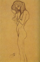 Gustav Klimt Study for the Left-hand Gorgon