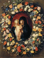 Jacob Jordaens and Andries Daniels The Virgin and Child in a Garland of Flowers