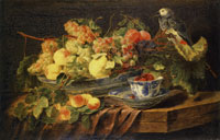 Jan Fyt Fruit and a Parrot