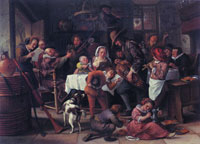 Jan Steen As the Old Sing, So Pipe the Young