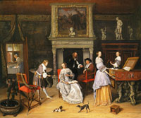 Jan Steen Fantasy Interior with the Family of Jan van Goyen