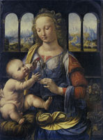 Leonardo da Vinci The Madonna of the Carnation