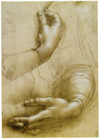 Leonardo da Vinci Studies of Hands