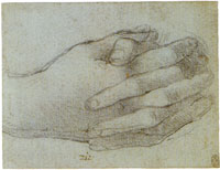 Leonardo da Vinci Study for the Hands of Saint John