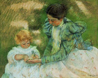 Mary Cassatt Mother Playing with Her Child