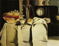 Paul Cézanne The black clock